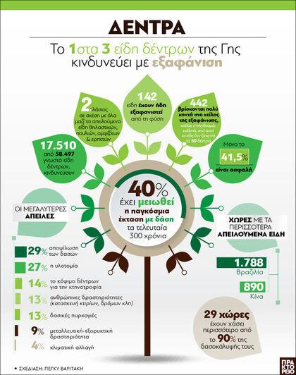 Γη: Το 1 στα 3 είδη δέντρων κινδυνεύει μ...