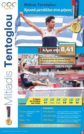 Μίλτος Τεντόγλου: Χρυσό μετάλλιο στο μήκος