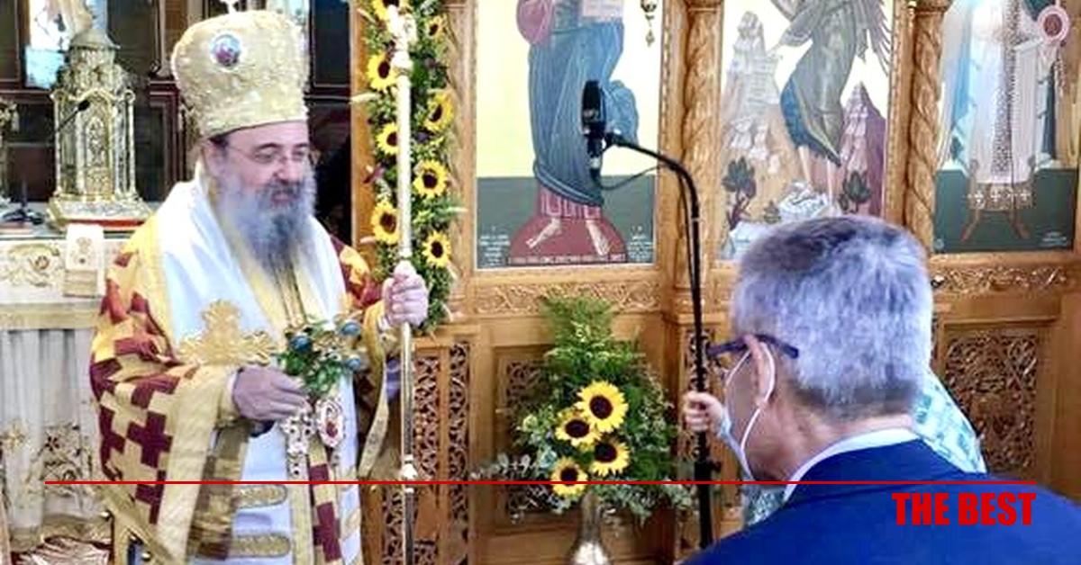 Ευχές του Άγγελου Τσιγκρή στον Μητροπολίτη Πατρών κ.κ. Χρυσόστομο