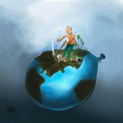 Η κλιματική αλλαγή με το πενάκι του Dranis