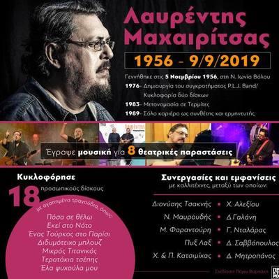 Λαυρέντης Μαχαιρίτσας: 1956-2019