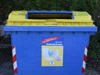 Κίτρινοι κάδοι ανακύκλωσης στην Πάτρα για έντυπο χαρτί