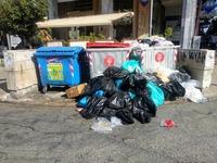 Γεμίζει σκουπίδια η Πάτρα-  Απεργία μέχρι την Πέμπτη! ΦΩΤΟ