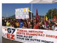 G 7 : Χιλιάδες διαδηλωτές κατά της παγκοσμιοποίησης