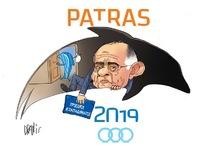 Ο νέος πρόεδρος των Μεσογειακών με το πενάκι του Dranis