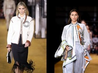 Burberry: Η ξανθιά Κένταλ και το νέο βεστιάριο εργασίας χειροκροτήθηκαν στο Λονδίνο
