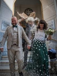 0f4bc96d6ac Από την Ιταλία στην Πάτρα, φορώντας νυφικό που έφτιαξε με ελιόπανο!