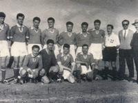 Ο Διαγόρας Βραχνεΐκων το 1955 στο Μεσολόγγι