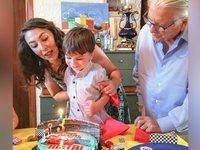 Ο γιος του Βουτσά έγινε τριών και το γιόρτασαν οικογενειακώς - ΦΩΤΟ