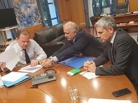 Συνάντηση του Δημάρχου Μεσολογγίου με τον υπουργό Υποδομών και Μεταφορών Κώστα Καραμανλή