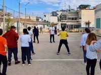 Ο Γιώργος Χριστόπουλος διδάσκει βόλεϊ στα σχολεία - ΦΩΤΟ