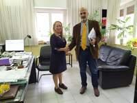Εθιμοτυπική συνάντηση του Αντιπεριφερειάρχη Χ. Μπονάνου με την Διευθύντρια της Εφορείας Αρχαιοτήτων Αχαΐας