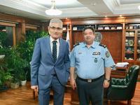 Συνάντηση του Άγγελου Τσιγκρή με τον Αρχηγό της Ελληνικής Αστυνομίας για θέματα της Αχαΐας