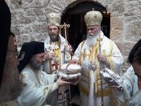 Αρχιερατική λειτουργία στην σκήτη του Οσίου Λεοντίου