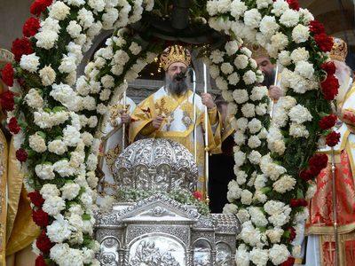 Σε εξέλιξη ο λαμπρός εορτασμός του Πολιούχου των Πατρών Αγίου Ανδρέα