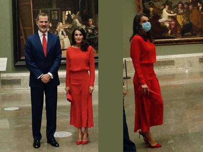 BeautySpy: «Lady in red» η Λετίσια της Ισπανίας στο Μουσείο Πράδο