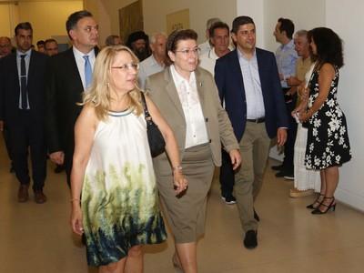 """Η Υπουργός Πολιτισμού εγκαινίασε την Έκθεση """"Η Πάτρα της Μεσογείου"""""""