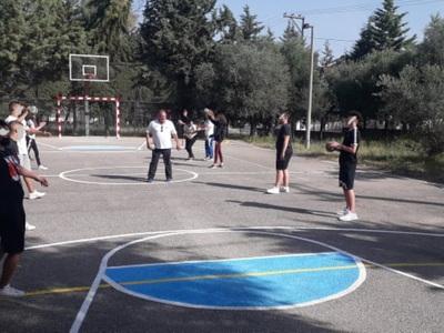Γήπεδο χάντμπολ στο 7ο ΕΠΑΛ Πάτρας (ΦΩΤΟ)