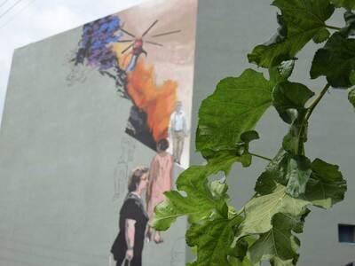 Τοιχογραφία εμπνευσμένη από τον Καραγκιό...