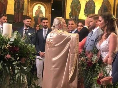 Ο Αχαιός Νίκος Πολυδερόπουλος στο γάμο του αδελφού του!