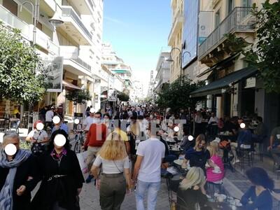 Πάτρα: Αρκετός κόσμος στη Ρήγα Φεραίου γ...