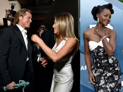 Στα SAG Awards ξανάσμιξαν Πιτ και Ανιστον και κατέπληξε με Louis Vuitton η  Λουπίτα Νιόνγκο
