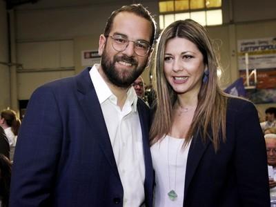 Η Σοφία Ζαχαράκη με τον υποψήφιο Περιφειάρχη Δυτικής Ελλάδας Νεκτάριο Φαρμάκη
