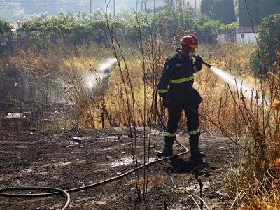 Υπό μερικό έλεγχο η πυρκαγιά στη Σάμη