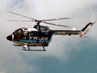 Ναύπακτος: Ελικόπτερο της ΕΛ.ΑΣ. σε μεγά...
