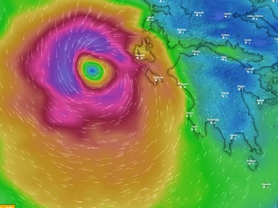 Στο μάτι του μεσογειακού κυκλώνα «Ιανού»...
