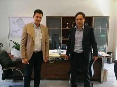 Συνάντηση του Πέτρου Ψωμά με τον Δήμαρχο Χαϊδαρίου