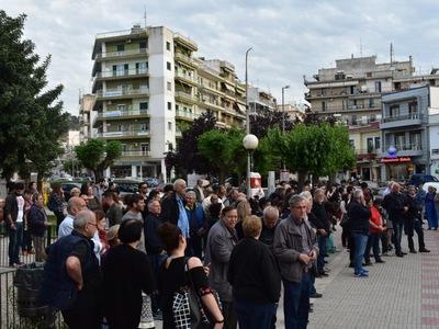 Ο Δήμαρχος Πατρέων Κ. Πελετίδης μίλησε στην πλατεία Αγίας Σοφίας