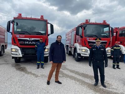 Tέσσερα ακόμα νέα οχήματα για τις πυροσβεστικές δυνάμεις στη Δυτική Ελλάδα
