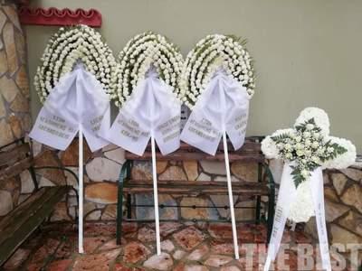 Θρήνος στην κηδεία του Κ. Δημόπουλου, θύ...