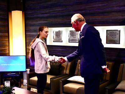 Όταν ο πρίγκιπας Κάρολος συνάντησε την Γκρέτα Τούνμπεργκ- ΦΩΤΟ