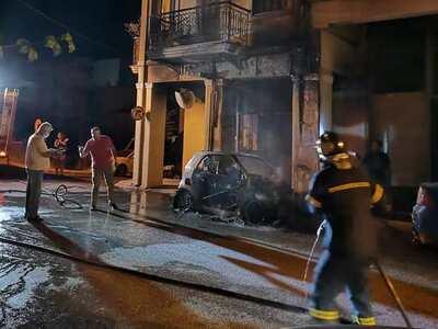 Πάτρα: Έκρηξη και φωτιά σε αυτοκίνητο στ...