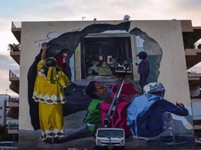 Το έργο του Κλεομένη Κωστόπουλου που στολίζει τα Προσφυγικά της Πάτρας