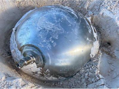 Μυστήρια μεταλλική μπάλα από το διάστημα...