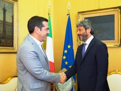 Συναντήσεις Τσίπρα στη Ρώμη για την ελληνική οικονομία