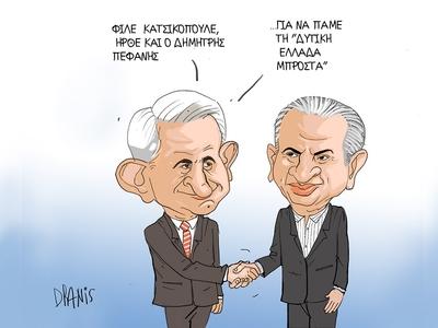 Η υποψηφιότητα Σπηλιόπουλου για την Περιφέρεια Δυτ. Ελλάδας με το πενάκι του Dranis