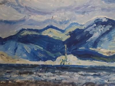 """Γνωριμία με το έργο των εικαστικών δημιουργών της έκθεσης """"Το Μπλε της θάλασσας και τ' ουρανού"""""""