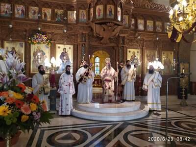 Με λαμπρότητα εορτάστηκαν οι Απόστολοι Π...