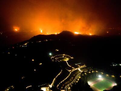 Αρχ. Ολυμπία: Οι φλόγες στη ΔΟΑ- Συγκλον...