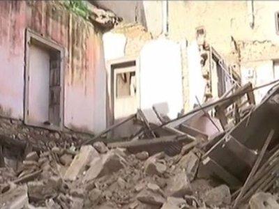 Κατέρρευσε σπίτι στην Πνύκα - ΒΙΝΤΕΟ