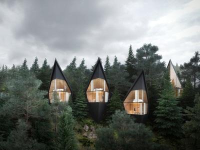 Αιωρούνται στα βουνά: Τα δεντρόσπιτα «αλλιώς» χάρη στο απίστευτο μιλανέζικο design