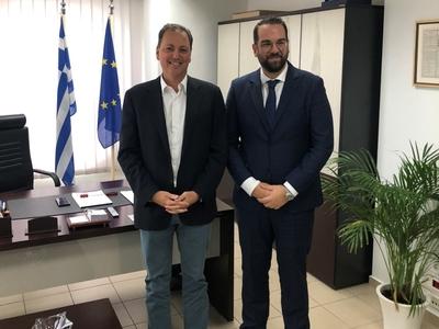 Τον Περιφερειάρχη, Ν. Φαρμάκη, επισκέφθηκε ο κοινοβουλευτικός εκπρόσωπος της Ν.Δ., Σπήλιος Λιβανός