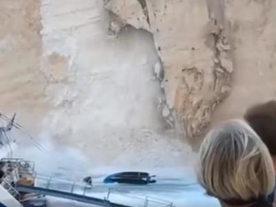 ΔΕΙΤΕ ΝΕΟ ΣΥΓΚΛΟΝΙΣΤΙΚΟ ΒΙΝΤΕΟ, όταν κατέρρευσε μεγάλο τμήμα της πλαγιάς, στο Ναυάγιο της Ζακύνθου