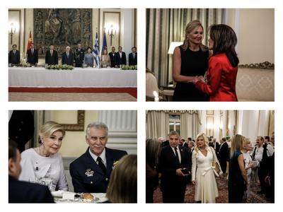 Safe στα μαύρα η Μαρέβα, φωτιά στα... κόκκινα η Γιάννα στο επίσημο δείπνο για τον Κινέζο Πρόεδρο