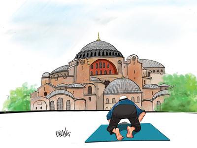 Η μουσουλμανική προσευχή στην Αγία Σοφία...