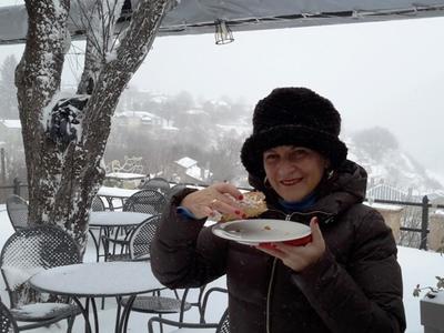 """Πήγαμε στο χιονισμένο """"Νυμφαίο"""" - Που φάγαμε τραχανόσουπα και Ελληνικό πρωϊνό - ΔΕΙΤΕ ΦΩΤΟ"""